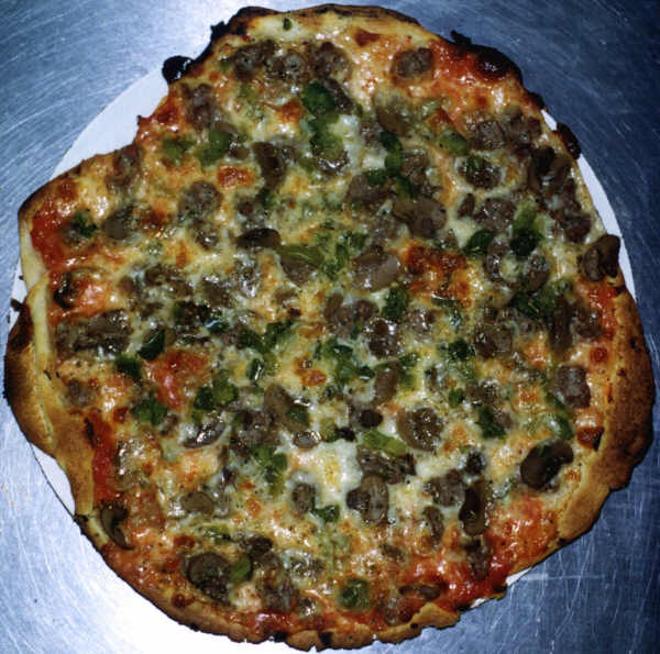 Italian Sausage, Mushroon and Green Pepper Pizza