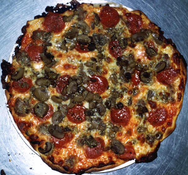 Italian Sausage, Mushroom and Pepperoni Pizza